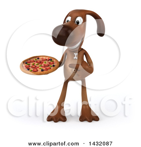 3d small dog clipart image freeuse library Clipart of a 3d Brown Chocolate Lab Dog, on a White Background ... image freeuse library