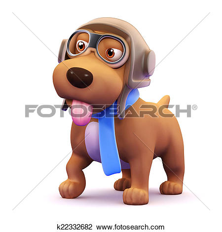 3d small dog clipart clip free Clip Art of 3d Dog pilot k22332682 - Search Clipart, Illustration ... clip free