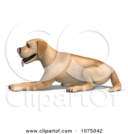 3d small dog clipart svg library stock Clipart 3d Yellow Lab Dog Leaping - Royalty Free CGI Illustration ... svg library stock