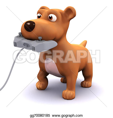 3d small dog clipart png library Stock Illustration - 3d gamer puppy. Clipart Illustrations ... png library