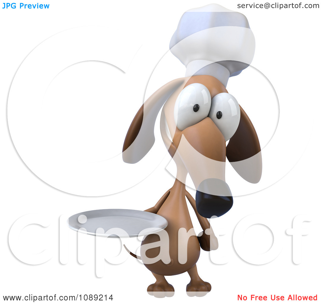 3d small dog clipart transparent Clipart 3d Chef Dachshund Dog Holding A Plate 3 - Royalty Free CGI ... transparent
