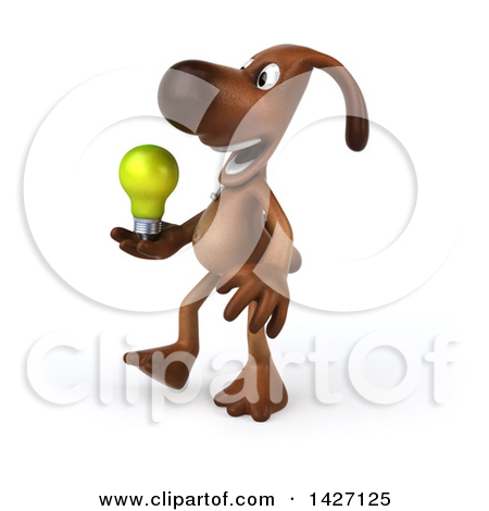 3d small dog clipart stock Clipart of a 3d Brown Chocolate Lab Dog, on a White Background ... stock