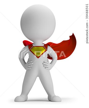 3d small people clipart jpg free stock 3d small people - superhero - Stock Illustration [39488501] - PIXTA jpg free stock