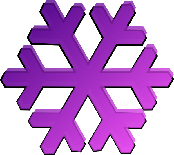 Clipart snowflake purple jpg transparent download Purple Snowflake Clip Art at Clker.com - vector clip art online ... jpg transparent download