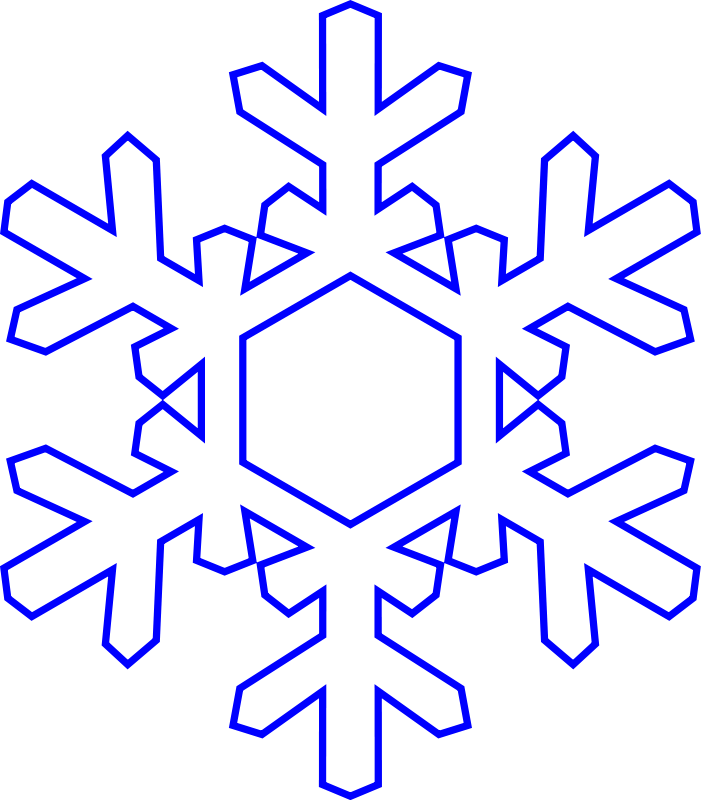 Simple snowflake clipart frames black and white clip art freeuse free snowflake clipart | šablony | Pinterest | Clip art and Ornament clip art freeuse