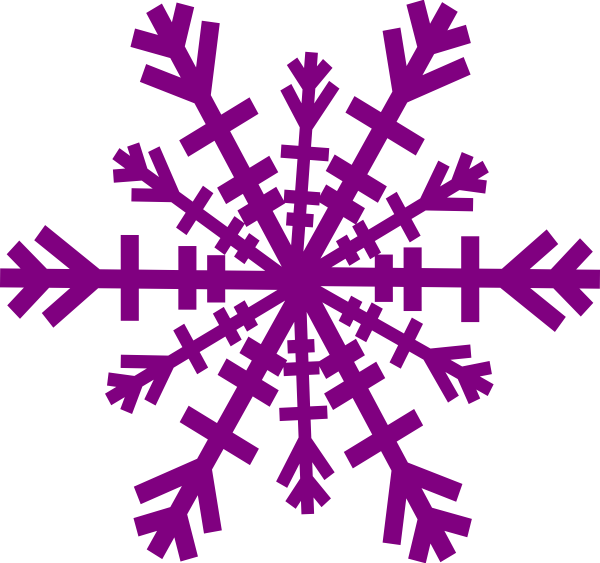 Snowflake clipart free picture black and white Purple Snowflake Clip Art | Snowflake clip art - vector clip art ... picture black and white