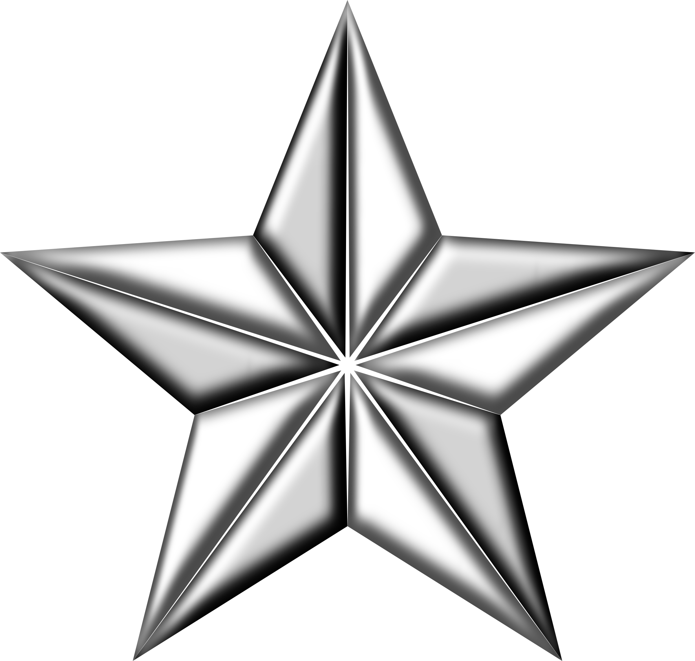 Clipart army silver star clip stock Clipart - 3D segmented silver star clip stock