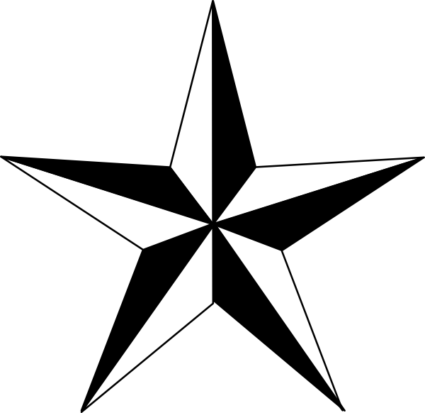 Primitive star clipart transparent
