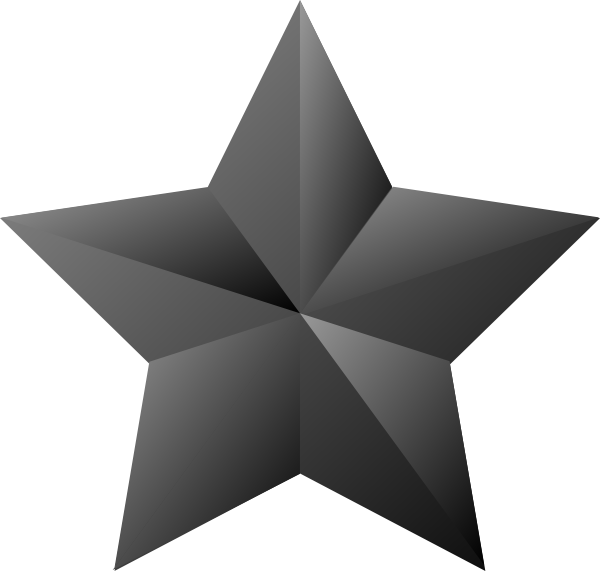 3d star clipart black and white svg royalty free stock 3d Star Clip Art at Clker.com - vector clip art online, royalty free ... svg royalty free stock