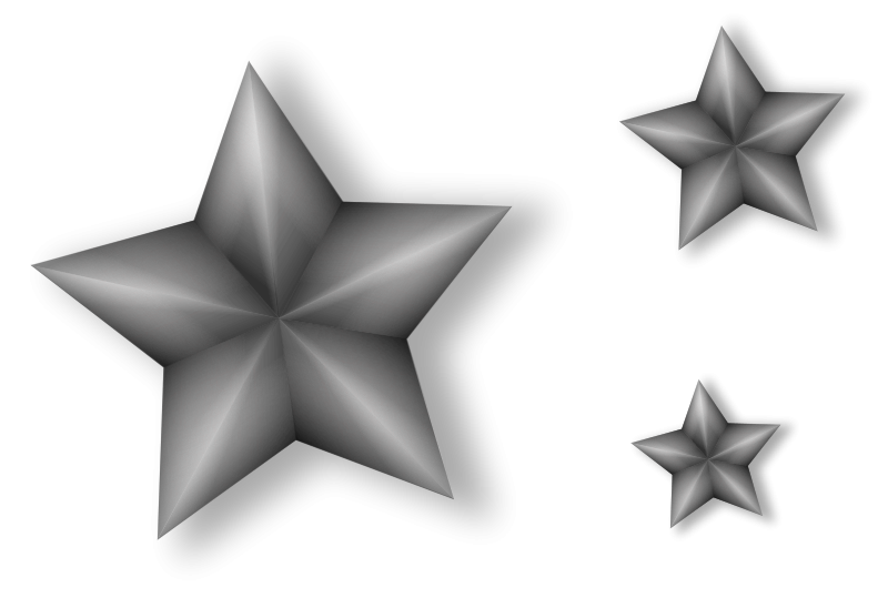 Star clipart 3d jpg black and white Stars Cluster 3d Grey | Free Images at Clker.com - vector clip art ... jpg black and white