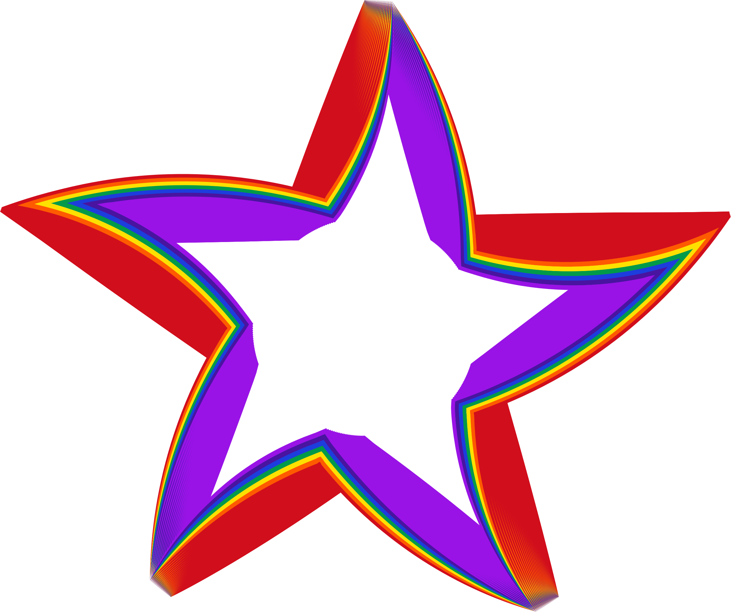 Star clipart 3d clip art black and white Clipart - 3D Rainbow Star clip art black and white