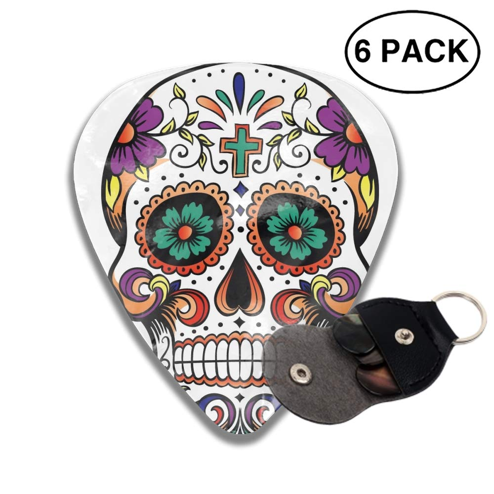 3d sugar skull clipart image free Amazon.com: 3D Printed Pretty Sugar Skull Clipart Celluloid Guitar ... image free