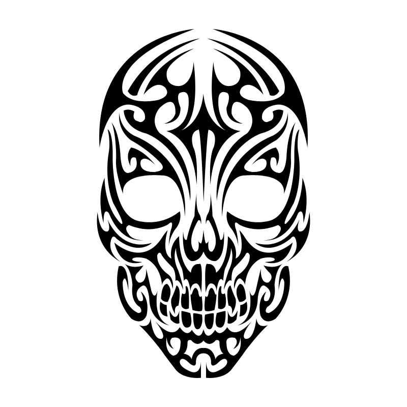 3d sugar skull clipart freeuse download Tribal skull clipart - WikiClipArt freeuse download