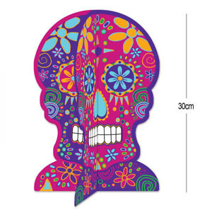 3d sugar skull clipart png library Details about 30CM DAY OF THE DEAD 3D SUGAR SKULL TABLECENTRE Halloween  Table Decoration 00311 png library