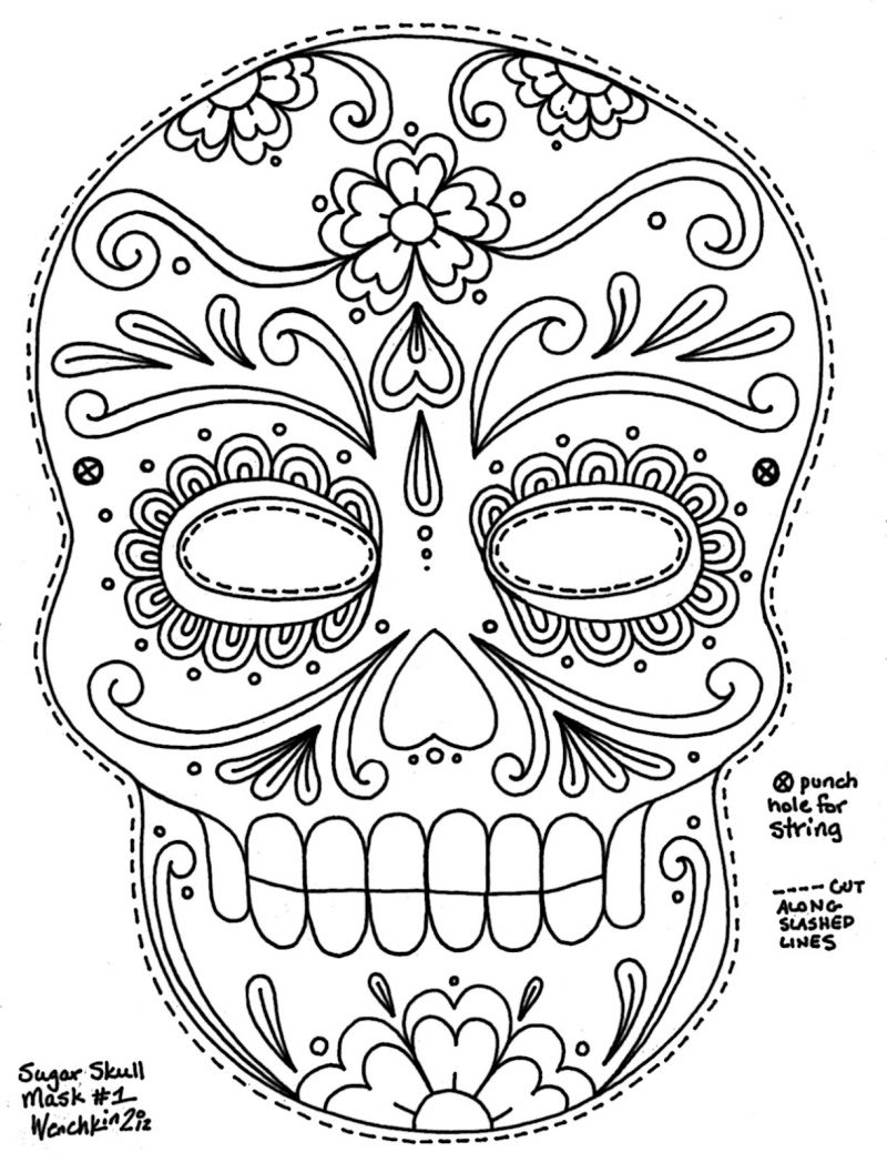 3d sugar skull clipart clip Free Printable Sugar Skull Day of the Dead Mask. Could use to make ... clip