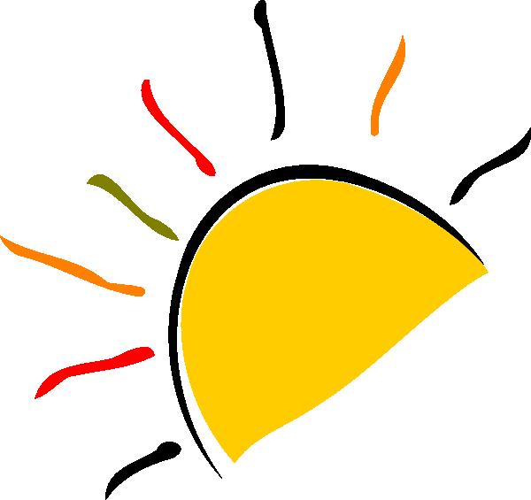 Half white sun clipart vector library library Sun Logo Clip Art at Clker.com - vector clip art online, royalty ... vector library library