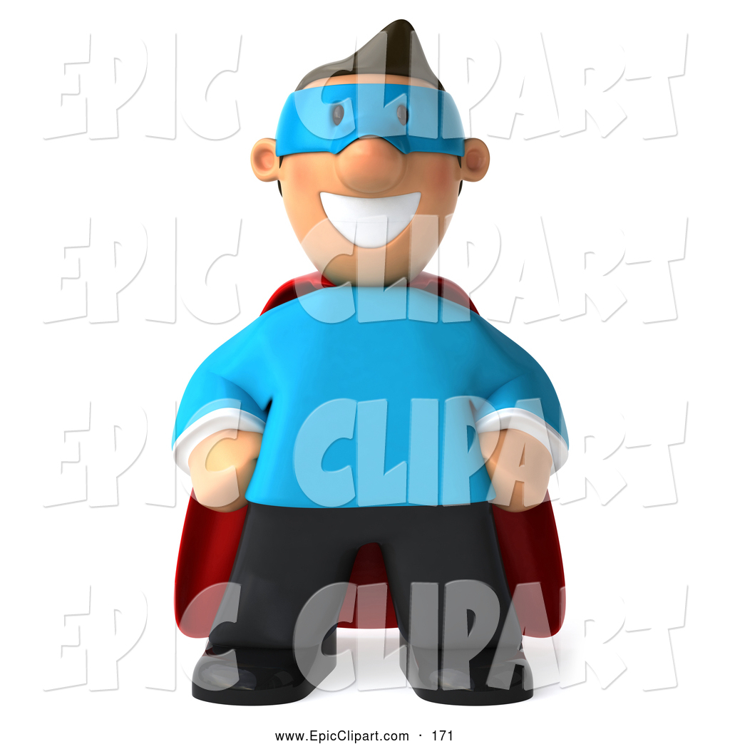 3d superhero toon clipart banner free stock Clip Art of a Friendly 3d Business Toon Guy Super Hero by Julos - #171 banner free stock