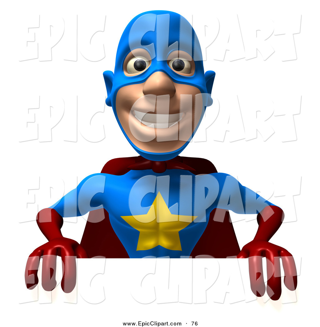 3d superhero toon clipart banner transparent download Vector Clip Art of a Friendly 3d Super Hero Man Promoting and ... banner transparent download
