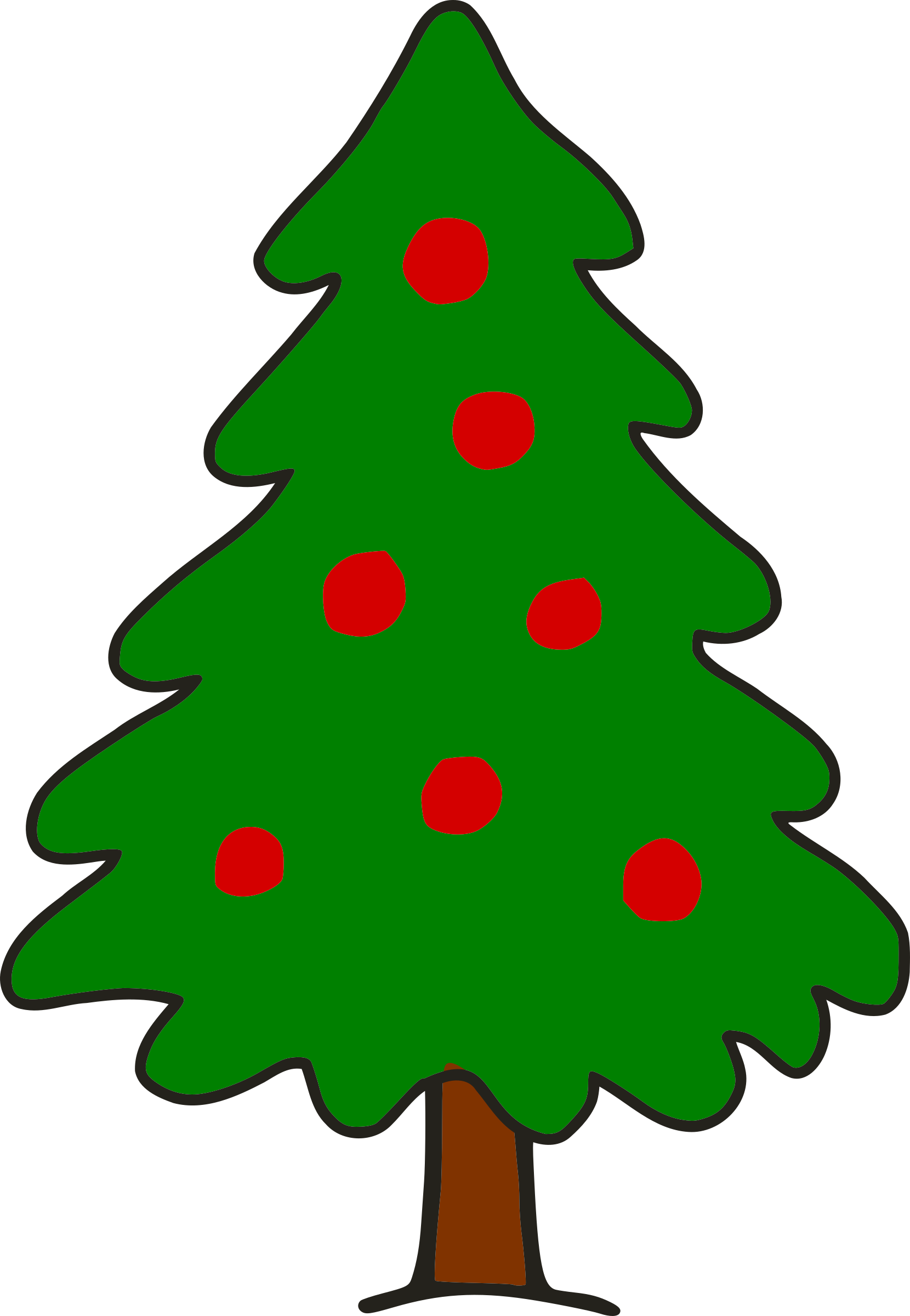 Christmas tree shape clipart clip art download Clipart - Simple Christmas Tree clip art download