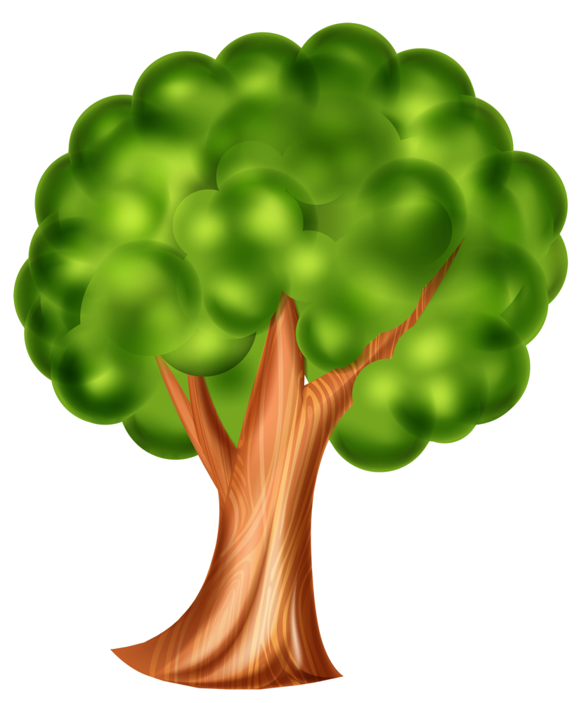 Leafy tree clipart clip art library download Cartoon Tree PNG Clip Art 3d Effect clip art library download