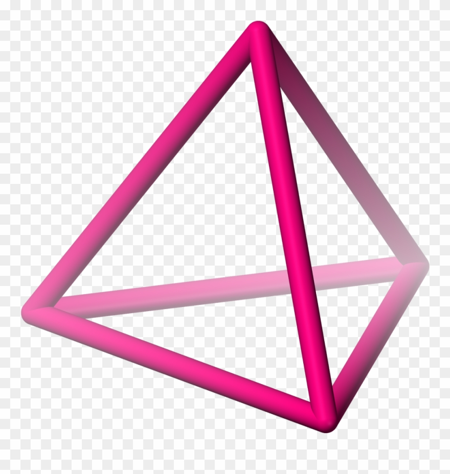 3d triangle clipart vector library library Triangular Clipart Triangular Clipart Pink Triangle - Tetrahedron ... vector library library
