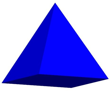 3d triangle clipart