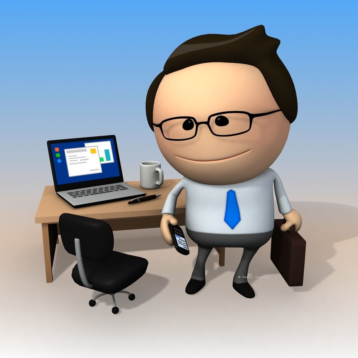 clipart rigged business man download
