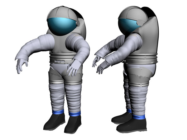 NASA exploration space shuttle suit, (.3ds) 3D Studio Max software ... clipart transparent stock