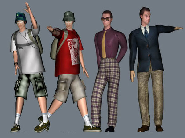 Urban youngster teen boy men, (.max) 3ds max software, Life Forms jpg freeuse library