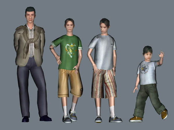 child teenage children people cloth, (.max) 3ds max software, Life ... clip art