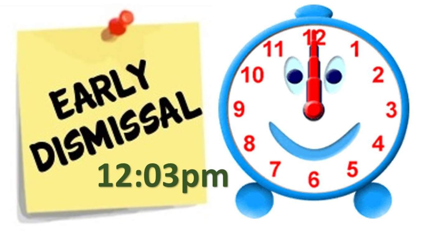 3-hour early dismissal clipart vector black and white download 2 Hour Early Dismissal | Sandy Hill Elementary vector black and white download