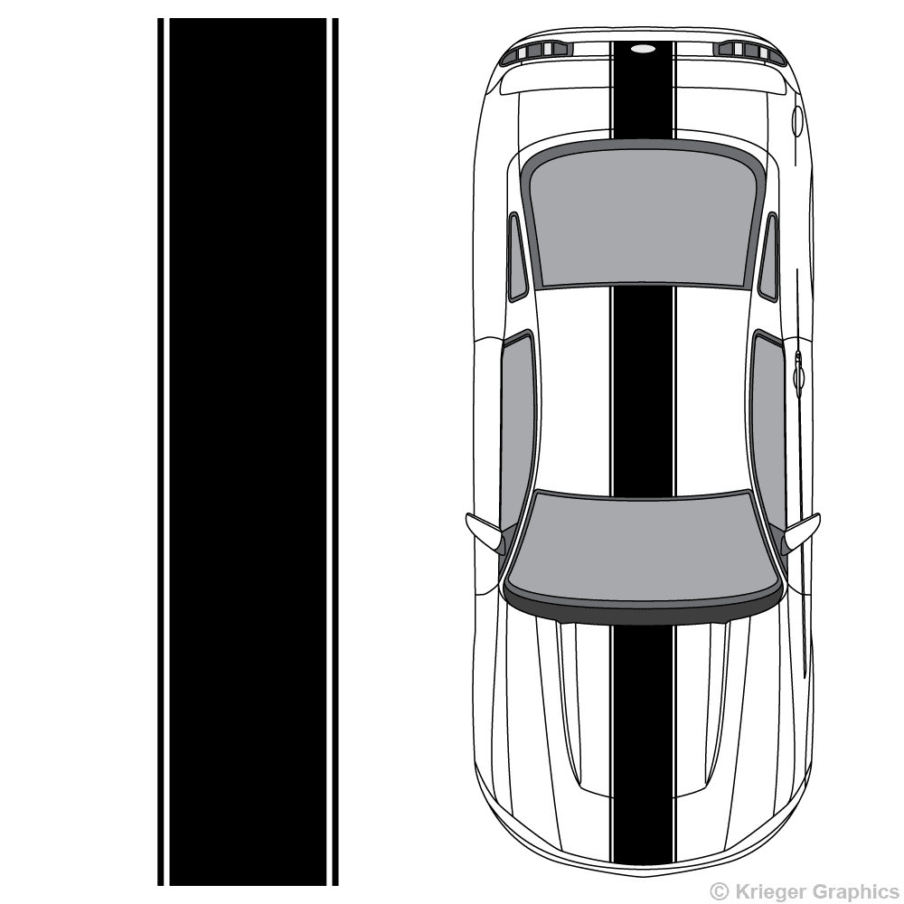 3m vinyl clipart png picture freeuse download Ford Mustang Center Racing Stripes 3M Vinyl Decal Kit picture freeuse download