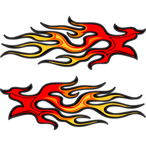 3m vinyl clipart png png royalty free library PAIR OF FLAMES #2 3m Vinyl decal sticker png royalty free library