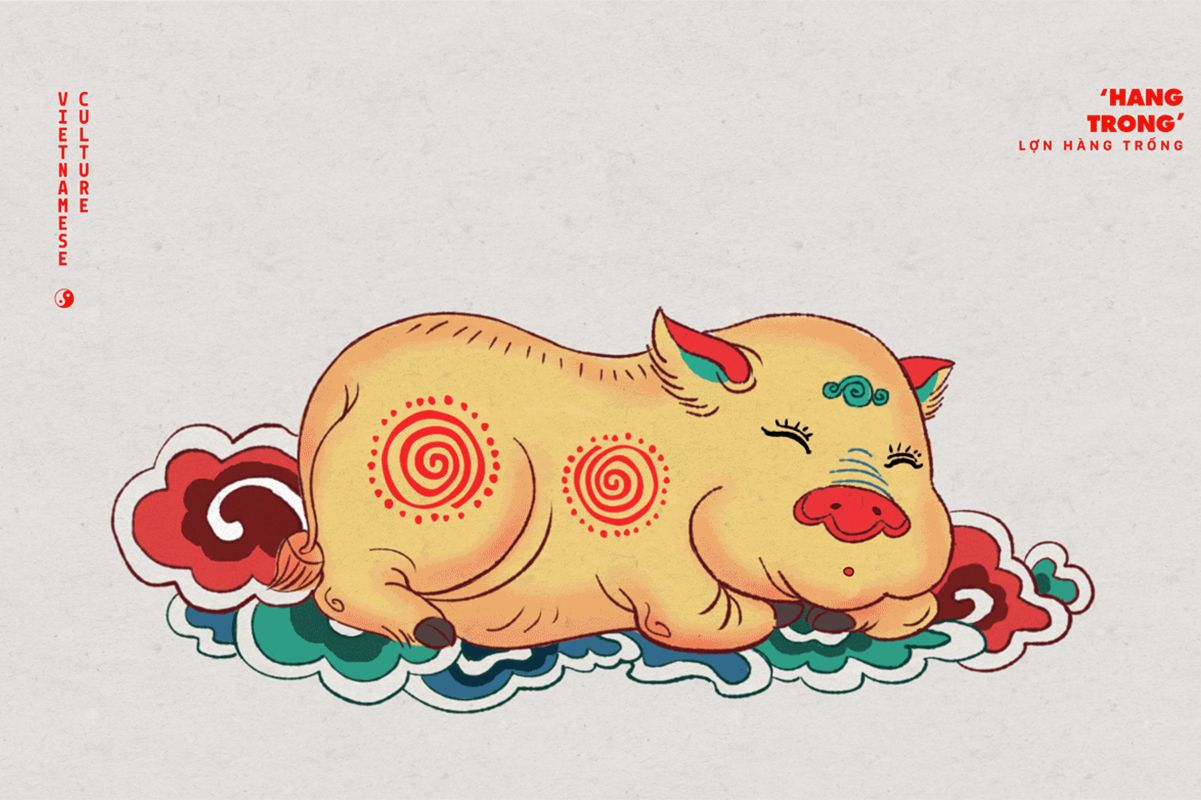 3rd anniversary vietnamese clipart image A Playful Project Uses Pigs to Showcase Vietnam Iconography Through ... image