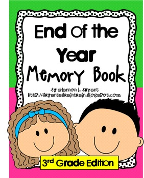3rd grade memories clipart graphic download End of the Year Memory Book for Third Grade graphic download