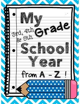 3rd grade memories clipart clip art transparent library My School Year: A-Z End of Year Memory Book 3rd-5th Grade FREE ... clip art transparent library