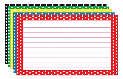 3x5 border clipart graphic free library Amazon.com : TOP3667 - BORDER INDEX CARDS 3X5 POLKA DOT : Office ... graphic free library