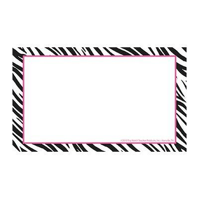 3x5 border clipart banner black and white library Amazon.com: Border Index Cards 3x5 Zebra Blank: Office Products ... banner black and white library