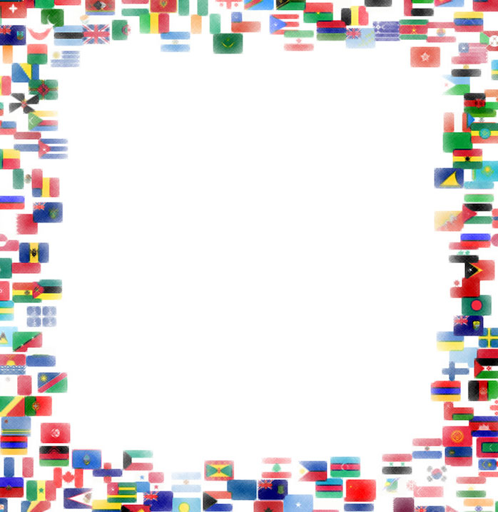 World flags border clipart picture stock Flag Border | printable flags picture stock