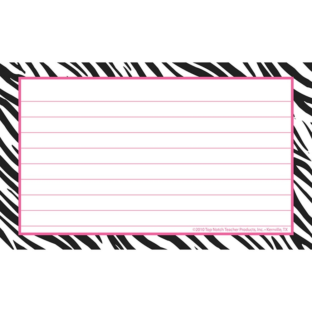 3x5 border clipart picture freeuse library Border Index Cards 3X5 Zebra Lined picture freeuse library