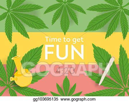 4 20 day clipart jpg black and white Vector Illustration - Have fun guys. EPS Clipart gg103695135 - GoGraph jpg black and white