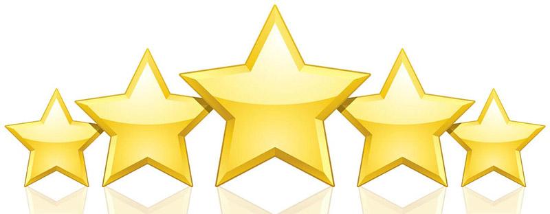 5 star service clipart