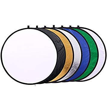4 7 inch circle clipart clip freeuse stock 12 inch (30cm) Round Collapsible Mini Light Reflectors for Photography  7-in-1 Portable Sun Reflector for Studio Multi Photo Disc ... clip freeuse stock