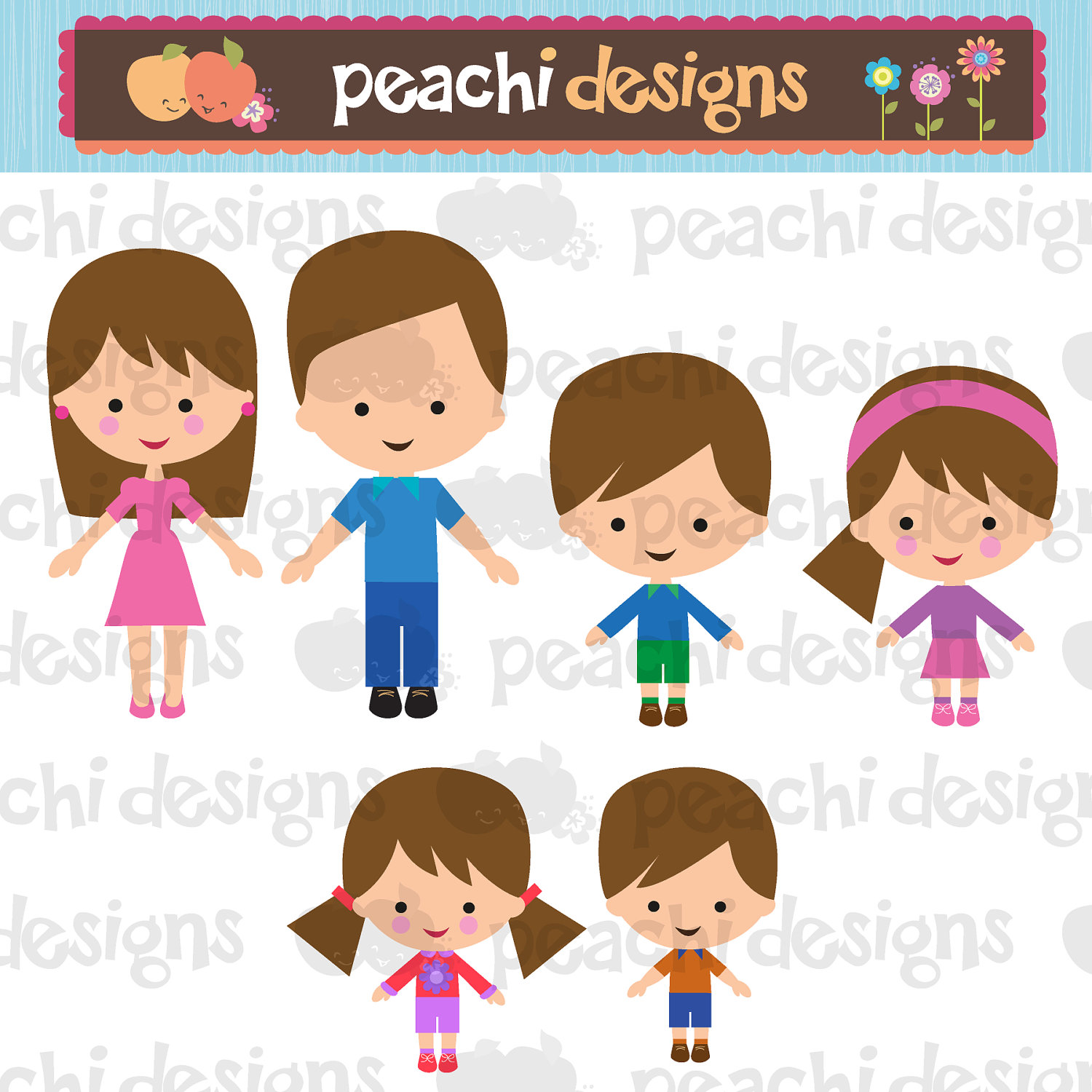 4 siblings clipart with 3 girls and 1 boy - ClipartFest picture black and white download