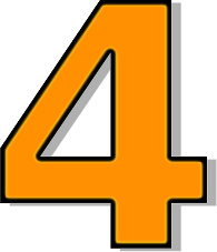 Orange number clip art. 4 clipart