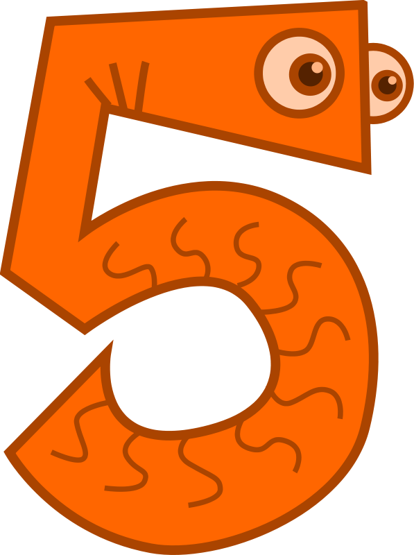 4 clipart. Number clipartfest