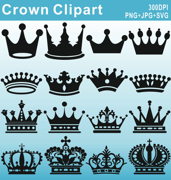 King and queen crown clipart 4 » Clipart Station vector black and white stock