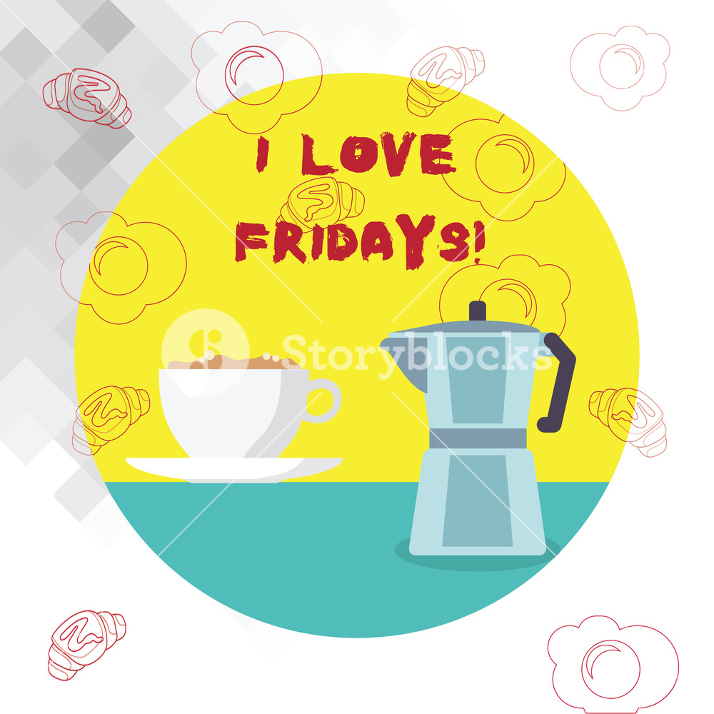4 day weekend friday and monday off clipart svg freeuse download Conceptual hand writing showing I Love Fridays. Business photo text ... svg freeuse download
