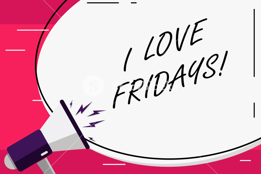 4 day weekend friday and monday off clipart black and white Word writing text I Love Fridays. Business concept for Affection for ... black and white