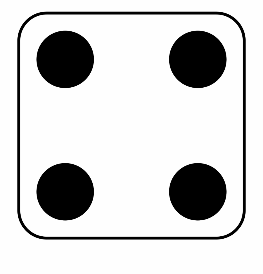 4 dice clipart clipart clip free Dice Clipart Four - Dice Dots 4, Transparent Png Download For Free ... clip free